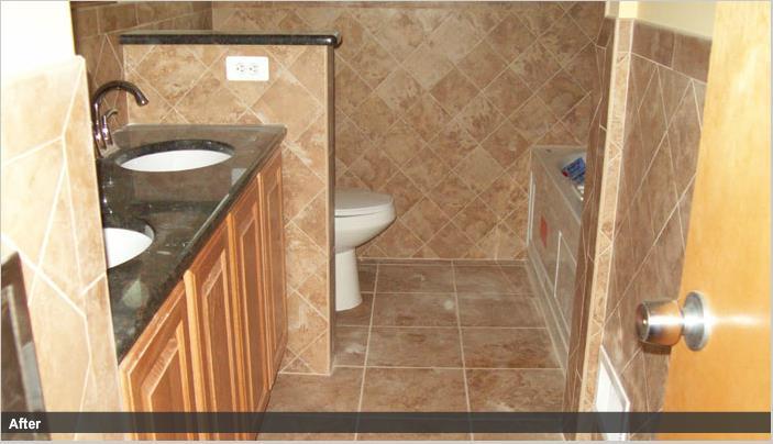 Fire Damage Bathroom - After Restoration