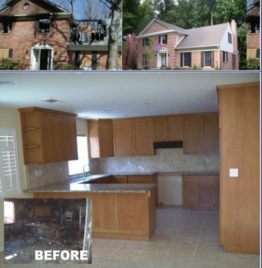 Before/After Fire Restoration